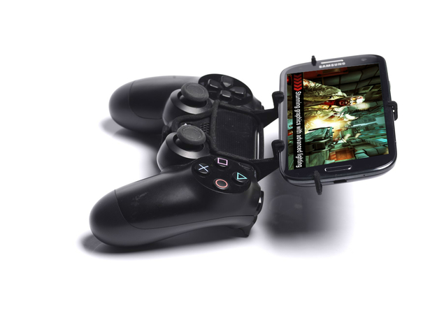 PS4 controller & Wiko Fever 4G - Front Rider in Black Natural Versatile Plastic