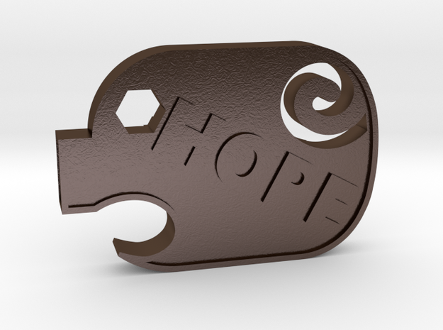 PiggyHope - F**K SUICIDE in Polished Bronze Steel