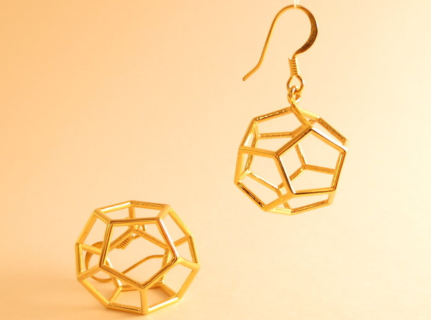 Heaven earrings in 18k Gold Plated Brass