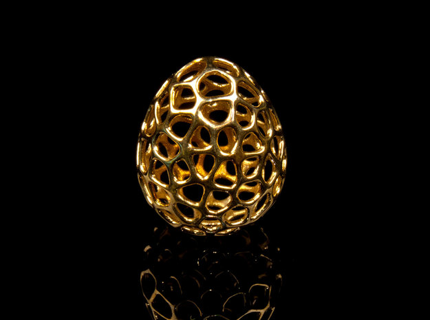 Dragon's Egg 3d printed Printed in Polished Brass