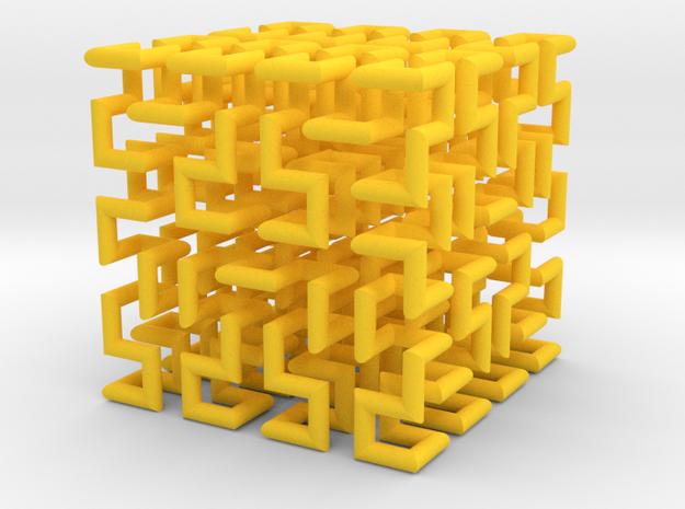 Hilbert Curve 3d printed