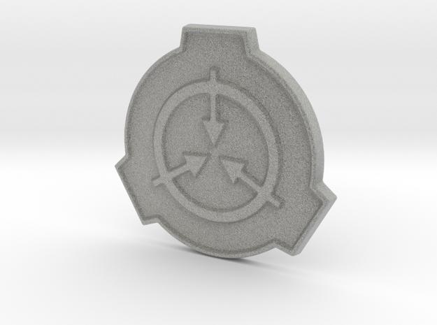 SCP Foundation Pin in Metallic Plastic