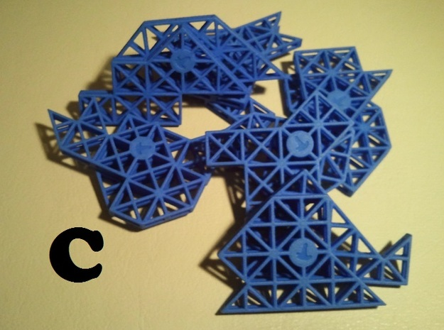 Ptarmigan Puzzle (Set C) 3d printed The pieces (Set C)