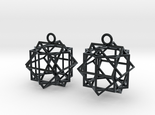 Cube square earrings