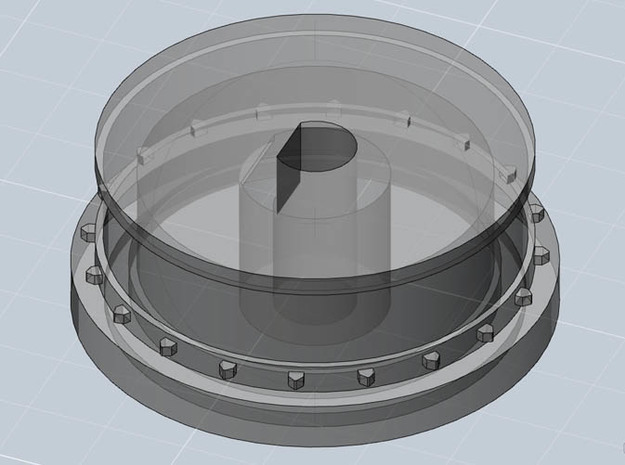 Film Sprocket : Super8 format (20teeth) 3d printed 3D model showing the sprocket the right way up,