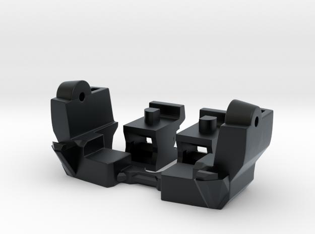 Spinout Fix; Torso Lock & Shoulder Articulation in Black Hi-Def Acrylate