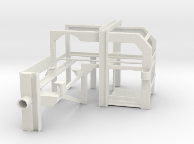 1/24 Depth Charge Rack (Port) in White Natural Versatile Plastic: 1:24