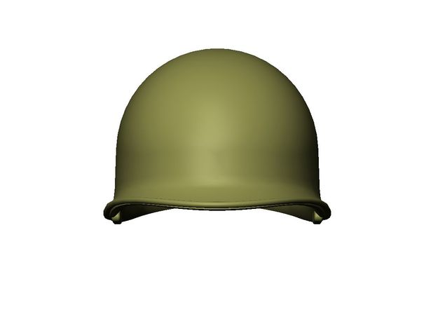 M1 Helmet (set of 3) 1-16 Scale in Smoothest Fine Detail Plastic
