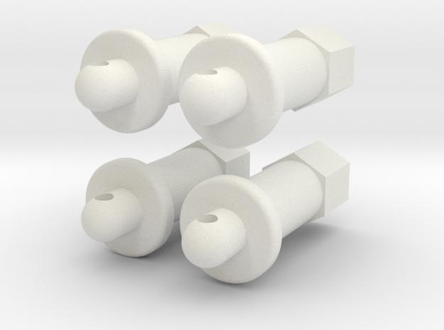 MRB 5 Karohalter für Splinte  in White Natural Versatile Plastic