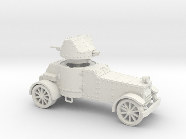 White Armoured Car (15mm) in White Strong & Flexible