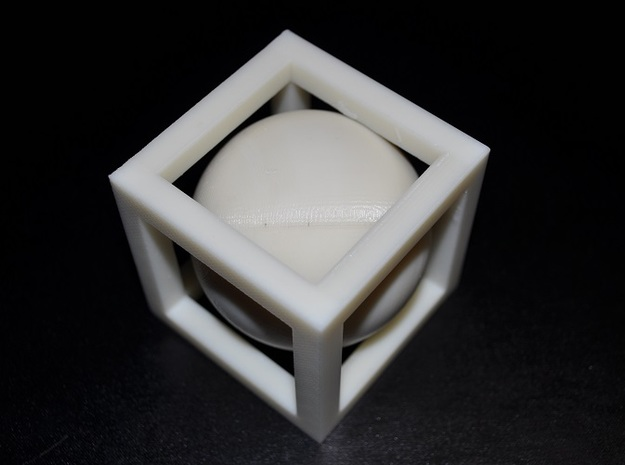 Ball In Box 3d printed Sphere in cube