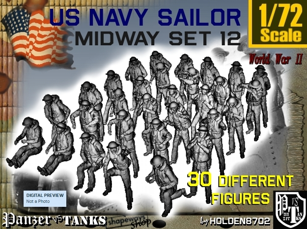 1-72 US Navy MIDWAY Set 12 in Smooth Fine Detail Plastic