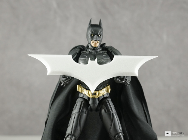 "Batman Trilogy Batarang 12cm (4.75"") in White Natural Versatile Plastic"