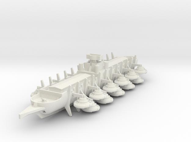 Sondor Siege Bireme in White Natural Versatile Plastic: 1:700
