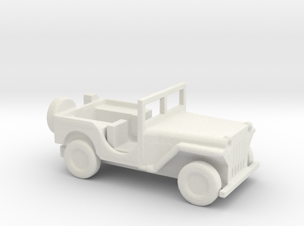 1/110 Scale MB Jeep in White Natural Versatile Plastic
