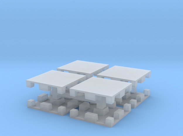 15mm Plastic Pallet Group in Smoothest Fine Detail Plastic