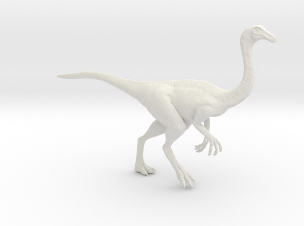 Gallimimus Pose 01 1/40th scale - DeCoster in White Natural Versatile Plastic: 1:40
