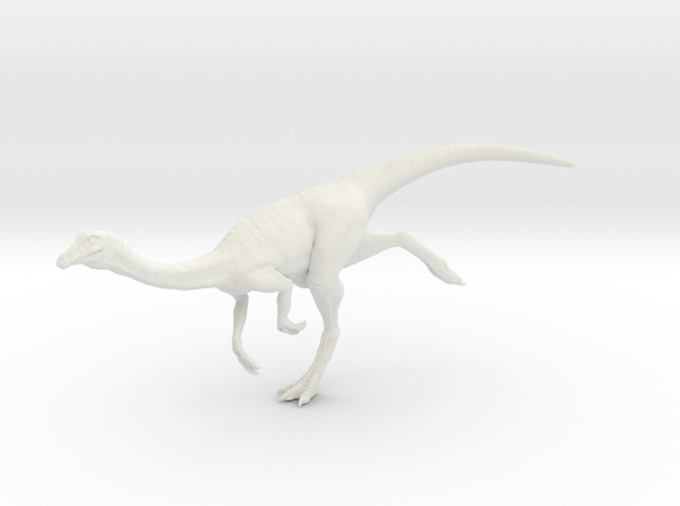 Gallimimus Pose 03 1/40th scale - DeCoster in White Natural Versatile Plastic: 1:40