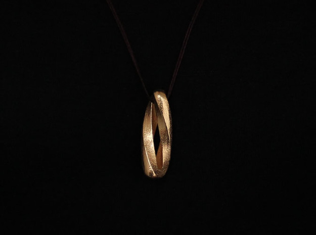 Spiral Pendant (#2414) in Polished Gold Steel