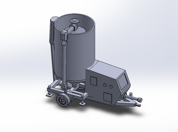 N-Scale Portable Grain Dryer - Transport in Smooth Fine Detail Plastic