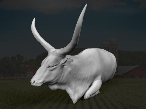 Ankole-Watusi 1:32 Lying Female 1 3d printed