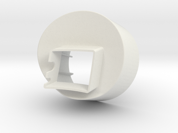 Aillio Bullet R1 - Exhaust Adaptor 100mm in White Strong & Flexible