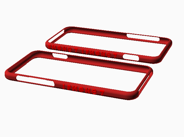 Iphone 7 Bumpr in Red Processed Versatile Plastic