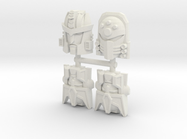 Beast Wars Face 4-Pack (Titans Return) in White Natural Versatile Plastic