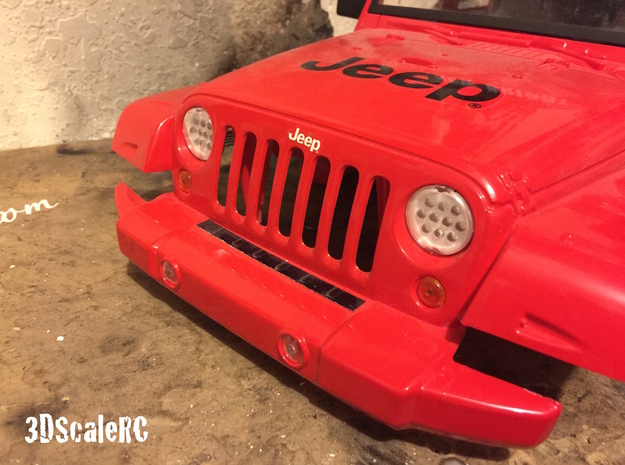New Bright RC - JEEP JK - Scale LED Headlight - B in White Natural Versatile Plastic
