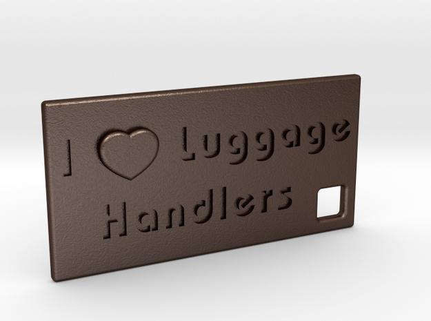 I Heart Luggage Handlers in Matte Bronze Steel