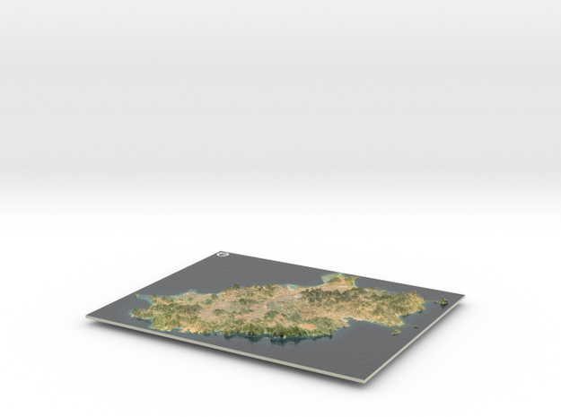 Ibiza Map, Spain in Coated Full Color Sandstone