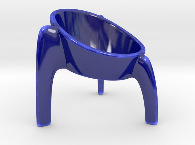 TRIPOD - Egg Cup  in Gloss Cobalt Blue Porcelain