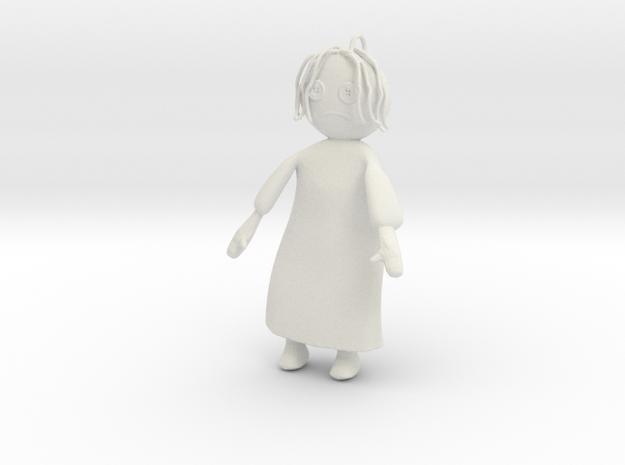 Rag Doll in White Natural Versatile Plastic
