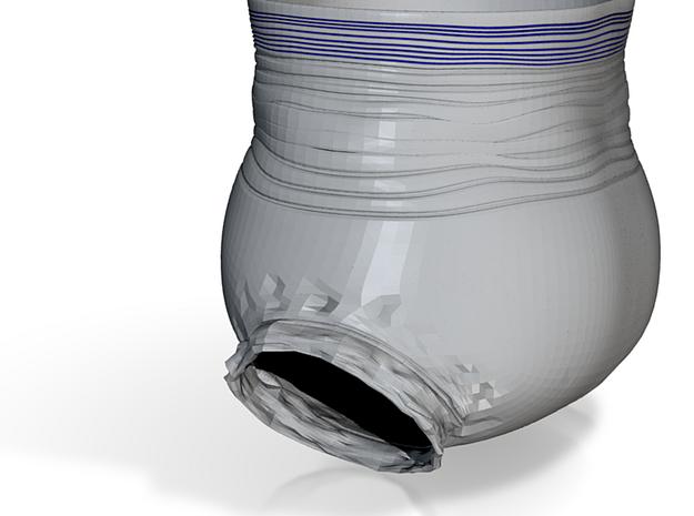 Diaper Crease in White Natural Versatile Plastic: Extra Small
