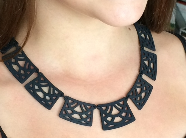 Trellis Statement Necklace - Ready to wear. 3d printed Black Statement Necklace by seriaforma