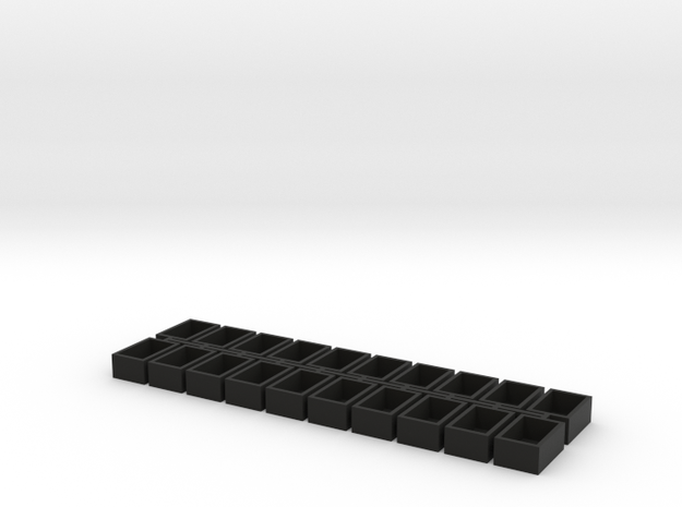 5x8x12 20 Pack Speaker Box Closed in Black Strong & Flexible