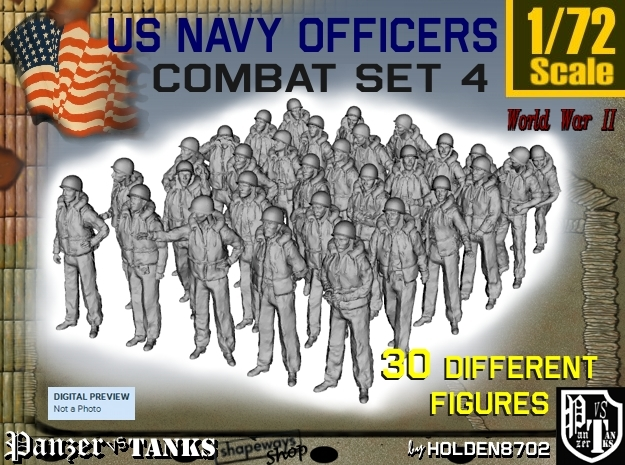 1-72 USN Officers KAPOK Set4 in Frosted Ultra Detail