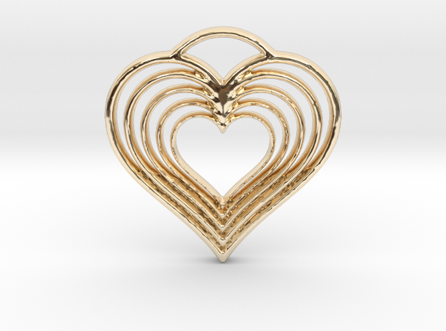 Hearts in Hearts in 14k Gold Plated Brass