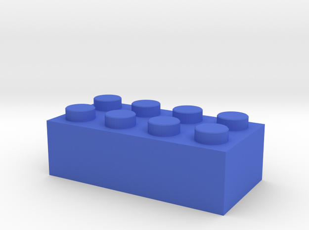 Toy Brick Standard size 2x4 in Blue Processed Versatile Plastic