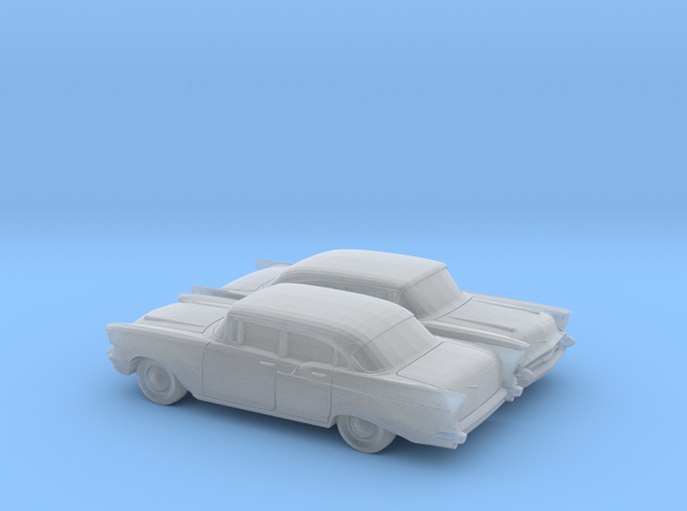 1/160 2X 1957 Chevrolet One Fifty Sedan in Smooth Fine Detail Plastic