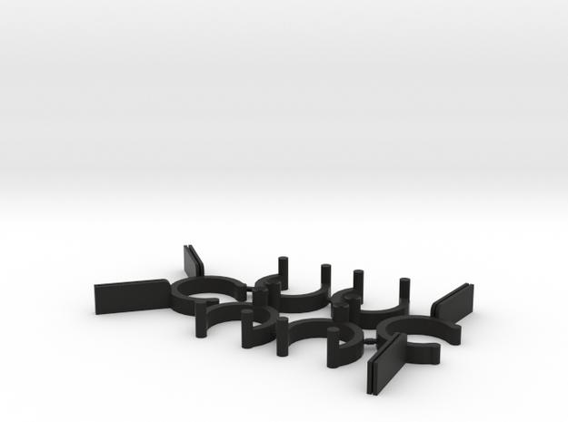 Collector Pins Magnet Adapter Break Apart 6 Piece  in Black Natural Versatile Plastic