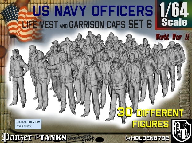 1-64 USN Officers KAPOK Set6 in Frosted Ultra Detail