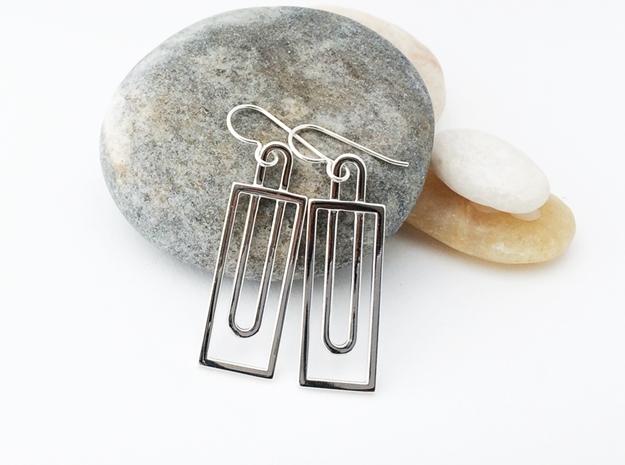 Simple Geometry - Geometric Earrings in Fine Metal