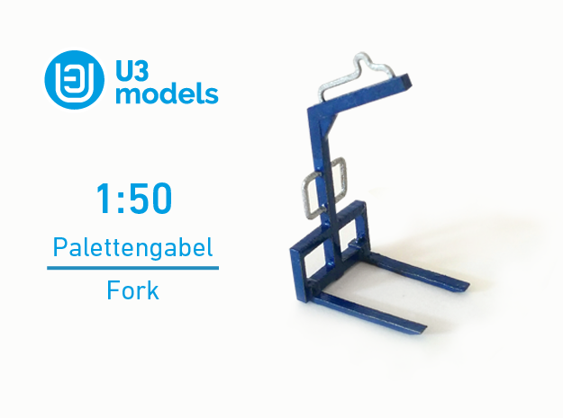 1:50 Palettengabel / Fork in Stainless Steel