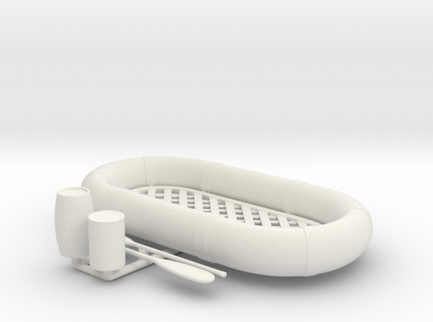 Best Cost 1/24 USN Life Raft Oval SET in White Natural Versatile Plastic: 1:24