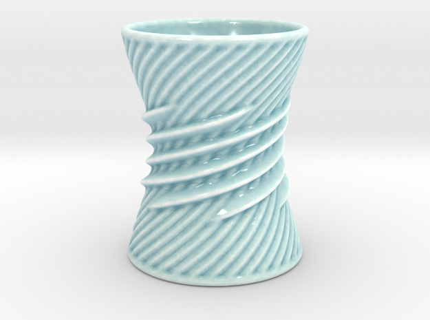 Twister Cup  in Gloss Celadon Green Porcelain