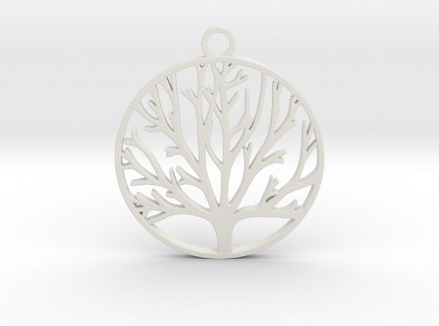 Tree of Life  in White Natural Versatile Plastic