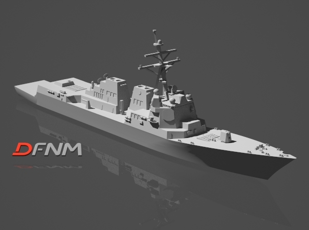 Arleigh Burke IIA (DDG-99 - DDG-106) in White Strong & Flexible: 1:700