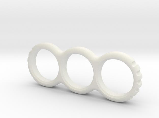 Hand EDC/Fidget Spinner Mk.II 80mm  in White Strong & Flexible