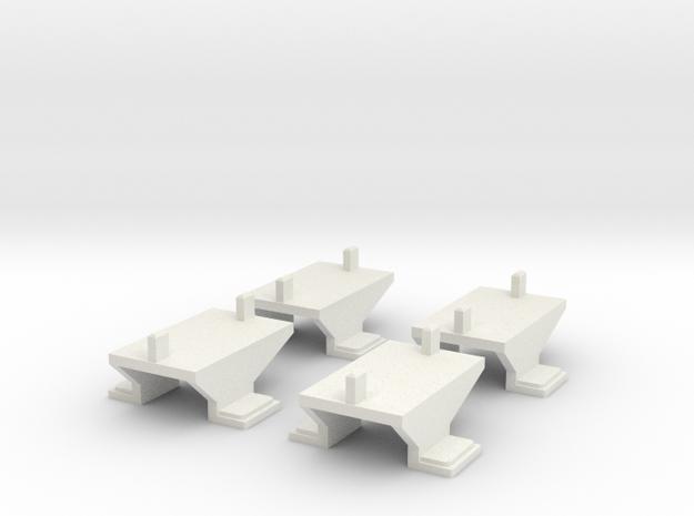 Container mount for Roco/Fleischmann N scale wagon